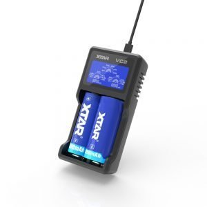 Xtar VC2 2-slot Smart Charger with LCD Screen